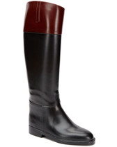 Aigle Jumping II Equestrian Rain Boot (Black/Bordeaux)