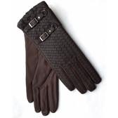 Hilts-Willard Ladies Woven Lambskin Gloves (Brown)