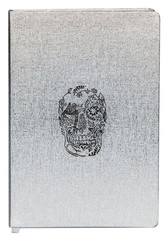 D.L. & Co. Delft Skull Metallic Large Journal