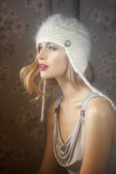Ambika English Angora Fur Earflap Hat