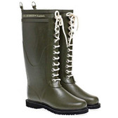 Ilse Jacobsen 'RUB 1' Rubber Rain Boot (Army)
