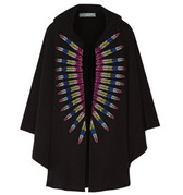 Mara Hoffman Embroidered Terry Hooded Cape
