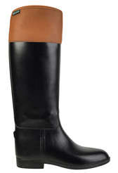 Aigle Jumping II Equestrian Rain Boot (Black/Tan)