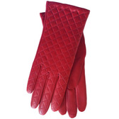 Hilts-Willard Ladies Quilted Lambskin Gloves (Red)