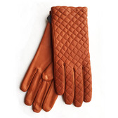 Hilts-Willard Ladies Quilted Lambskin Gloves (Tan)