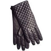 Hilts-Willard Ladies Quilted Lambskin Gloves (Black)