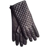 Hilts-Willard Ladies Quilted Lambskin Gloves (Black)