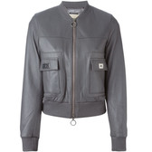MICHAEL Michael Kors Leather Bomber Jacket