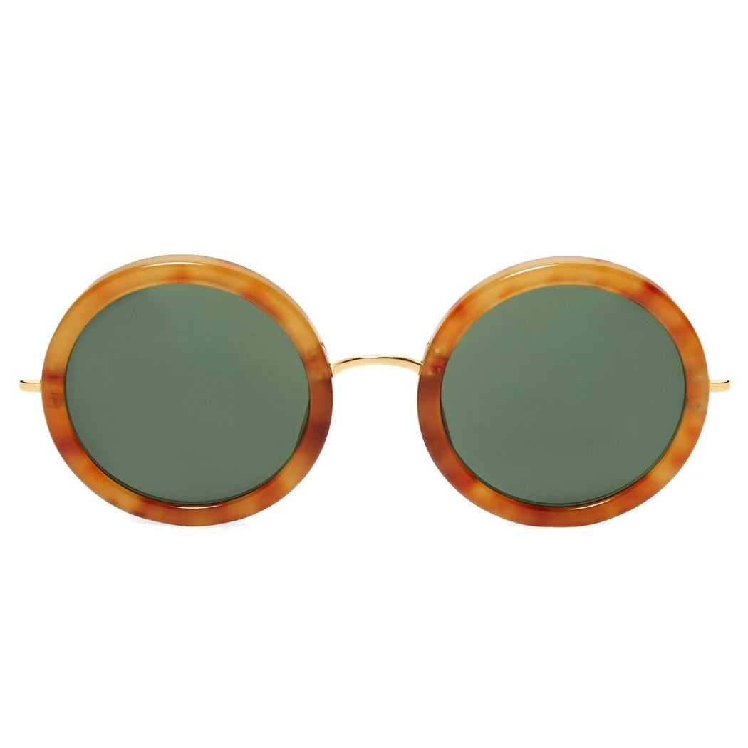 6277acb62147 Linda Farrow X The Row Round Sunglasses