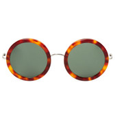 The Row by Linda Farrow Round Sunglasses (Auburn Tort)
