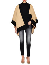 Burberry Wool Cashmere Colorblocked Cape
