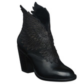 Lucchese Celeste Winged Ankle Boot (Black)