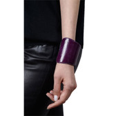 Condemned to Be Free Snakeskin Asymmetrical Cuff