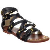 Matt Bernson Marion Flat Sandals (Black)