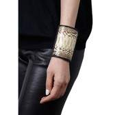 Condemned to Be Free Wide Glazed Python Cuff
