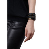 Condemned to Be Free Suede Double Strap Cuff