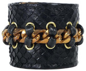 Condemned to Be Free Matte Python Chain Grommet Cuff