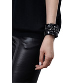 Condemned to Be Free Glazed Python Chain Grommet Cuff