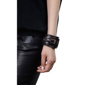 Condemned to Be Free Buffalo Leather Buckle Wrap Cuff