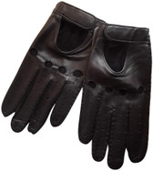 Hilts-Willard Men's Leather Driving Gloves (Black)