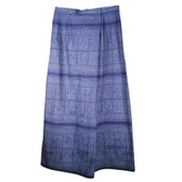 Indonesian Cropped Cotton Wide Leg Wrap Pants