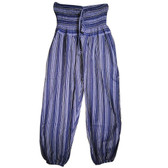 Striped Drawstring Harem Pants