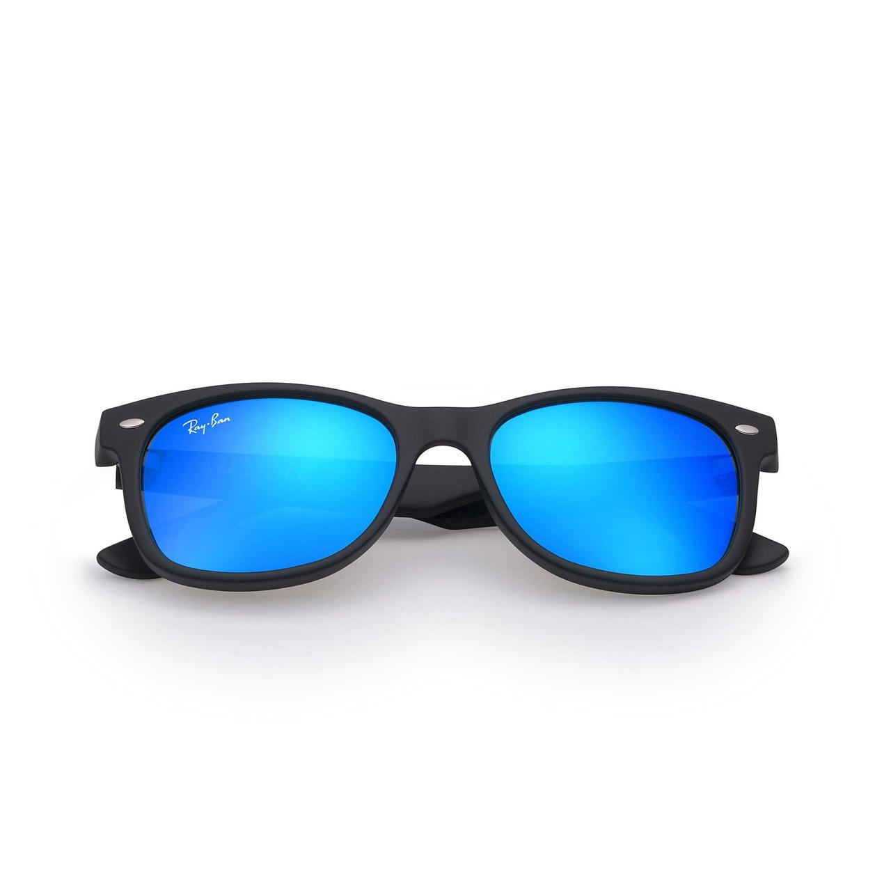 ray ban matte blue wayfarer sunglasses