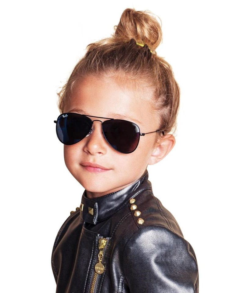 Ray-Ban Kids Aviator Sunglasses (Matte Gold/Lilac) | CONDEMNED TO BE FREE