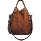 Be & D New Garbo Embossed Convertible Tote Bag