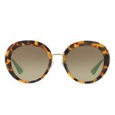 Prada PR16QS Catwalk Cinema Sunglasses (Blond Tort)