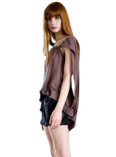 Christine Gabriele Asymmetrical Draped Top