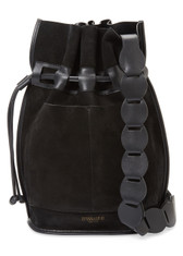 Derek Lam 10 Crosby Suede Crossbody Bucket Bag (Black)