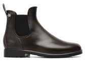 Meduse Chelsea Rain Boot (Brown/Black)