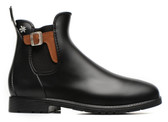 Meduse Chelsea Jodphur Rain Boot with Leather Buckle (Black)