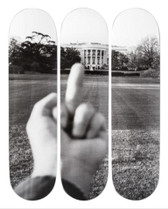 Ai Weiwei 'The White House' Skateboard Triptych