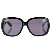 Chloe Retro Oversized Sunglasses (Black)