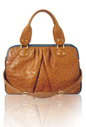 Condemned to Be Free 'Kubera' Ostrich Satchel Bag