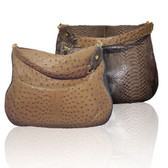 Condemned to Be Free 'Dioscuri' Ostrich/Python Saddle Bag