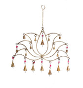 Mira Fair Trade Lotus Metal Wind Chime