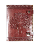 Handmade Recycled Leather Tree of Life Journal