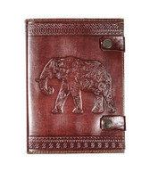 Handmade Recycled Leather Elephant Journal