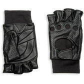 Hilts-Willard Men's Lined Leather Fingerless Driving Gloves