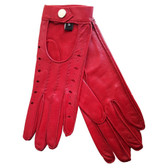 Hilts-Willard Ladies Nappa Driving Gloves (Red)
