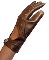 Hilts-Willard Ladies Nappa Driving Gloves (Metallic Gold)
