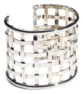 Condemned to Be Free Silver Lattice Cuff Bracelet