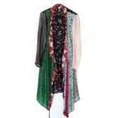 One-of-a-Kind Silk Sari Kimono Robe, Black Floral