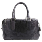 Bill Blass Ombre Crocodile Leather Satchel