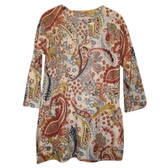 Paisley Print Cotton Tunic Coverup