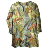 Tropical Jungle Print Cotton Tunic Coverup