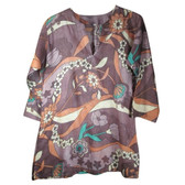 Floral Print Cotton Tunic Coverup